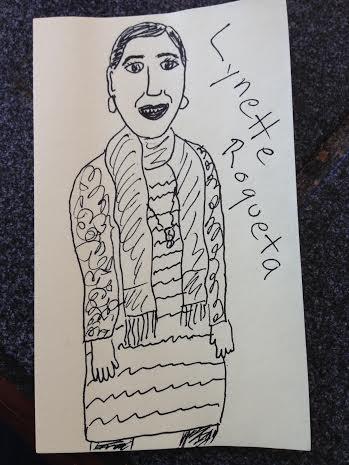 Lynette roqueta Post-It Note Portrait